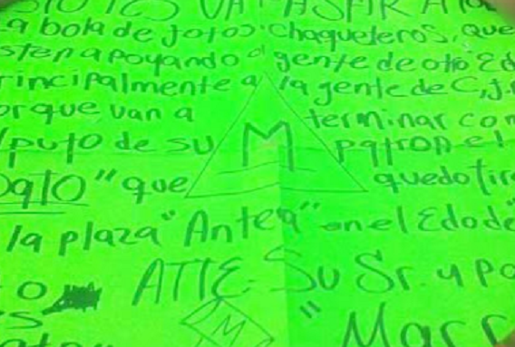"""""""El Marro"""" el enemigo publico del CJNG y El Mencho , se adjudica ataque en Antea Querétaro con descuartizado y mensaje"""