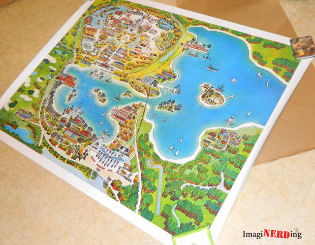 Vintage reproduction walt disney world map imaginerding jeff and i reviewed a reproduction of this map on communicore weekly and on our disney review gumiabroncs Image collections