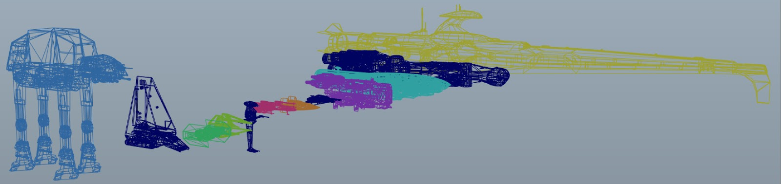 Big Star Wars OBJ Giveaway – 3D Models of Your Favorite Star Wars ships and vehicles – 12 of them – one for every month of the year