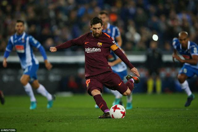 Messi lại gặp ác mộng phạt đền, Barca ôm hận đứt mạch 30 trận bất bại 1