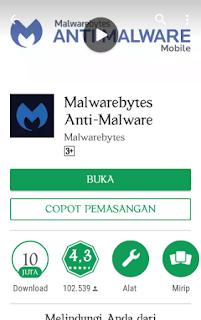 Aplikasi penghapus virus