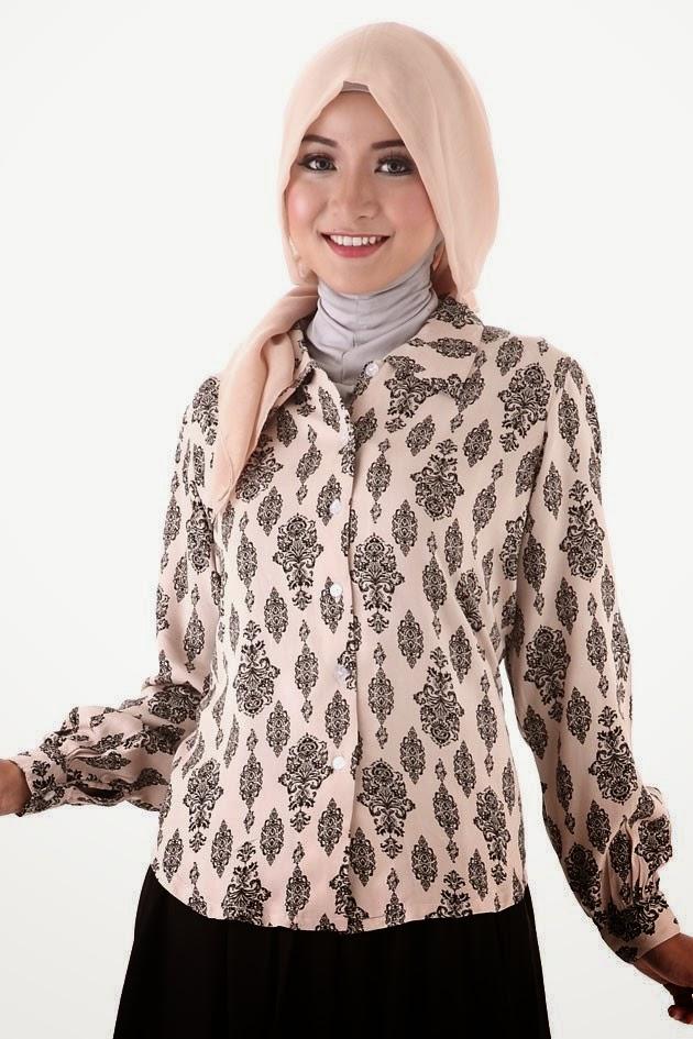 Model Baju Batik Muslim Terbaru 2015