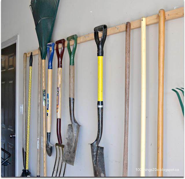 storing garden tools, garden tool storage, organizing your garden tools, garden tool rack
