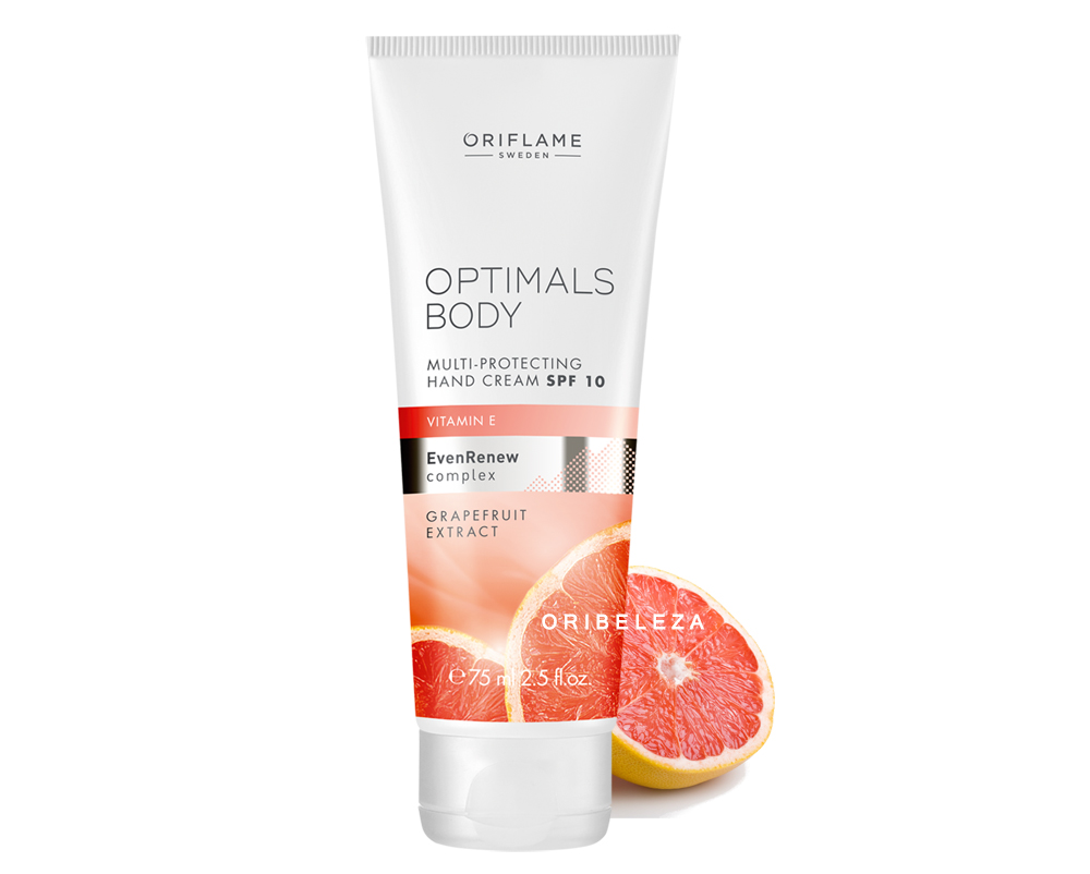 Creme de Mãos Multiprotetor com SPF 10 Optimals Body da Oriflame