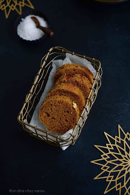 cake façon pain d'épices à base de potimarron , très moelleux