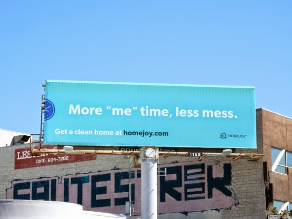More me time Homejoy billboard