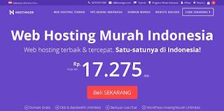 Hostinger Indonesia, Web Hosting Murah Terbaik Untuk Website Dan Blog