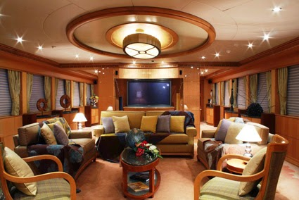 Wide Spacious Mega Yacht Saloons