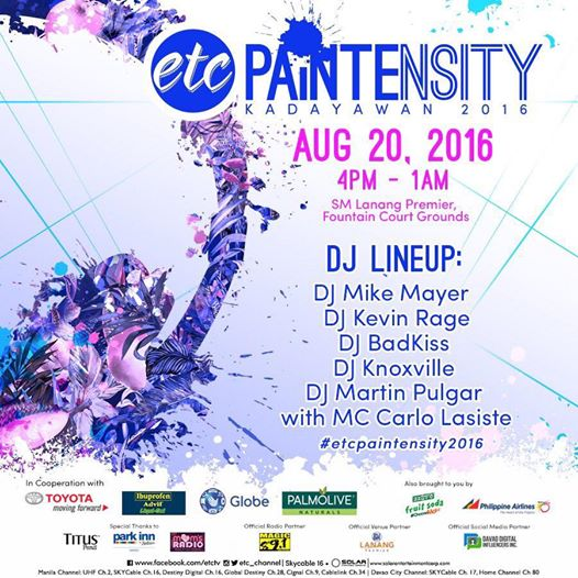 ETC Paintensity goes to Kadayawan 2016!