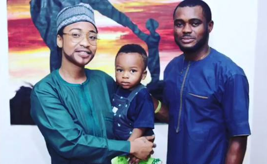2tc9iwy VIDEO:Actress Tonto Dikeh Dresses As a Man To Her Son's School For Father's Day Celebration