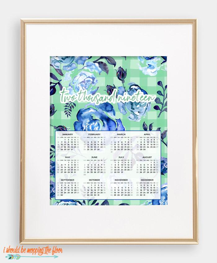 Calendar-At-A-Glance Printable
