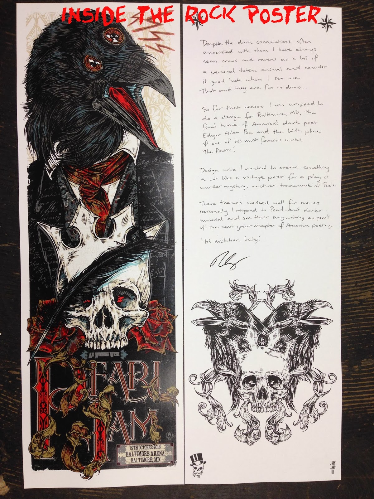 Inside The Rock Poster Frame Blog Pearl Jam Baltimore Poster By