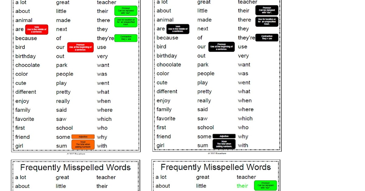 Mary Rosenberg: Frequently Misspelled Words