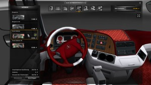 Mercedes Benz Actros Red & White interior