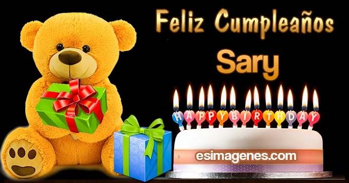 Feliz Cumpleaños Sary