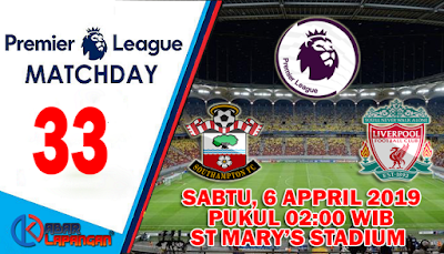 Prediksi Bola Southampton vs Liverpool 6 April 2019