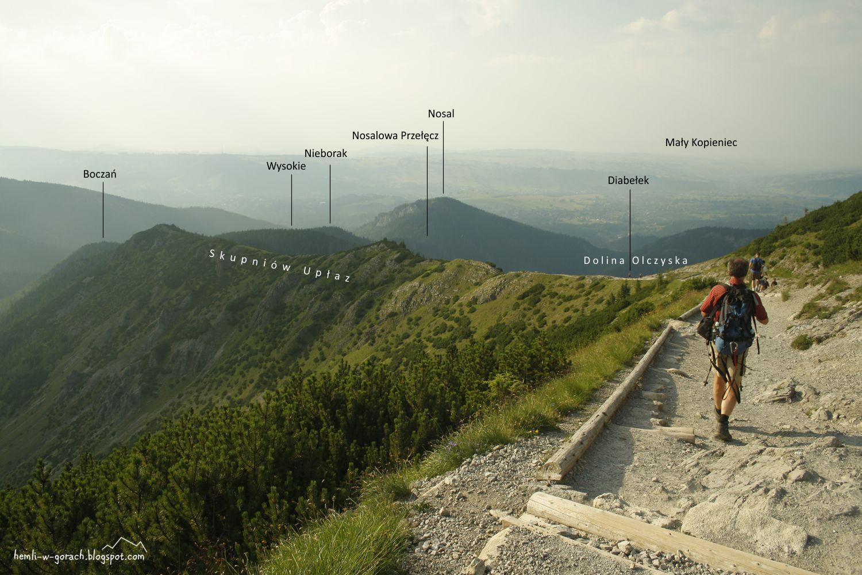 Panorama z Przełęczy między Kopami