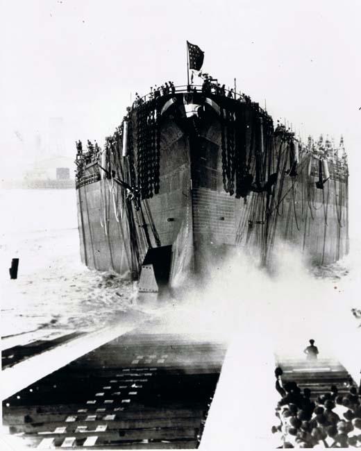 USS South Dakota is launched 7 June 1941 worldwartwo.filminspector.com