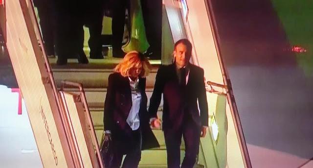 Emmanuel Macron llegó a Buenos Aires para participar de la cumbre del G20