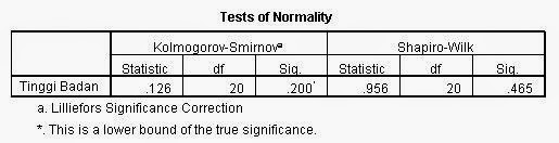 Normalitas Output Student T Test