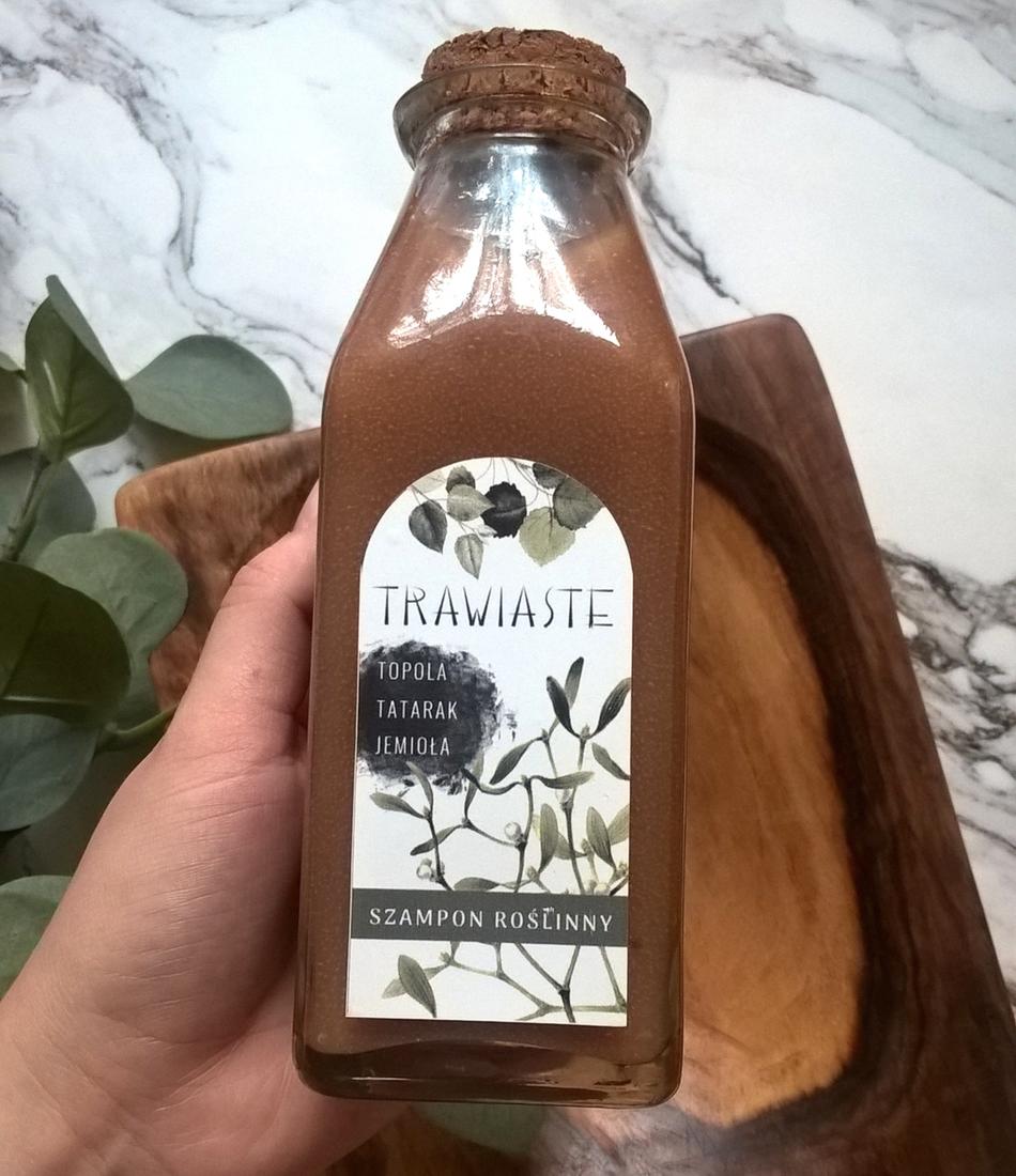 Trawiaste szampon roślinny Topola, Tatarak, Jemioła - na orzechach piorących!