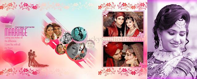 Photo Studio Wedding Album Design 12x30 Psd Template