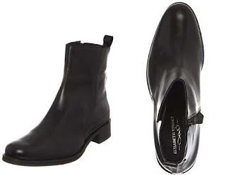 botines de piel negros en oferta