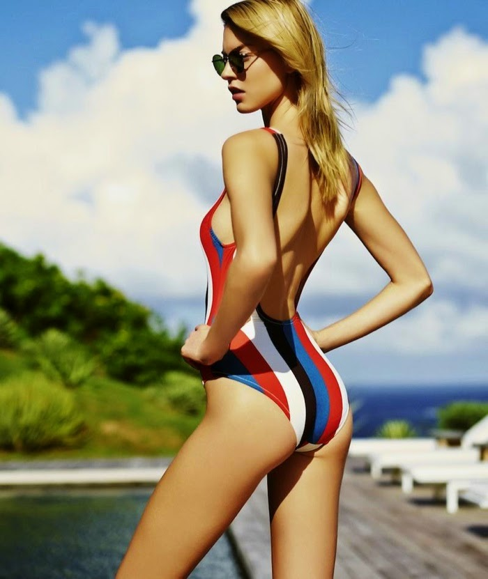 Solid and Striped Swimwear Spring/Summer 2015 Campaign featuring Martha Hunt