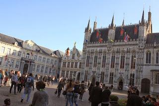 Burg square in Bruges