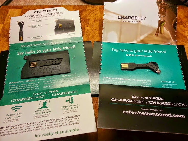 Nomad Chargekey and chargecard review