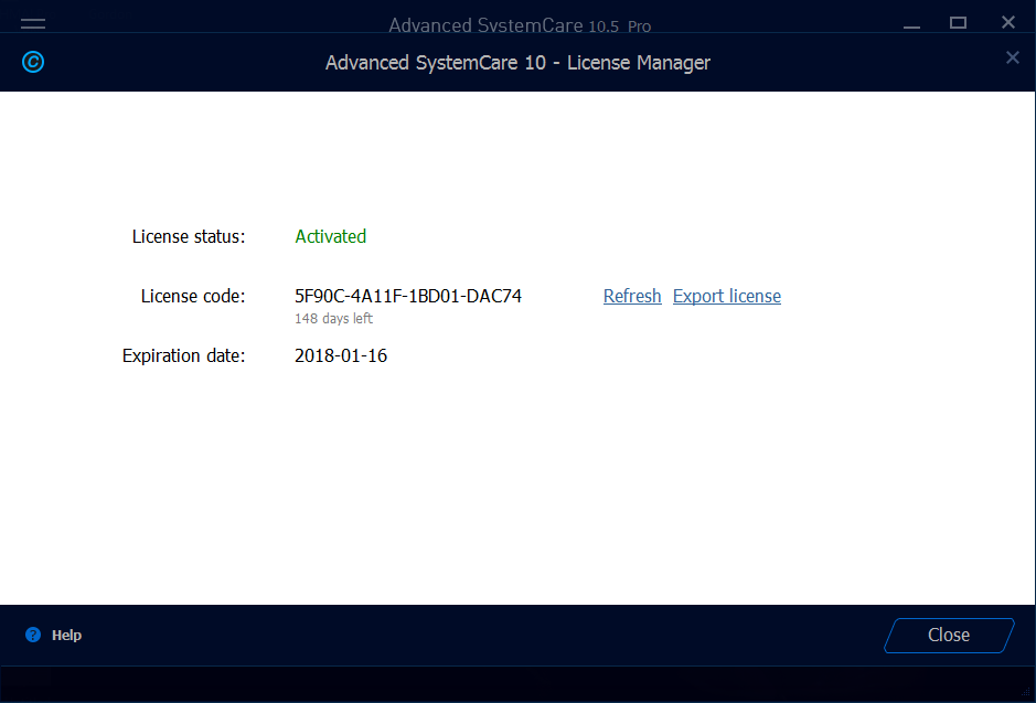 advanced systemcare 10.5 key 2017
