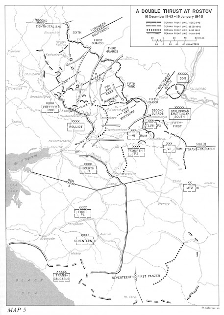 Η κατάσταση στη νότια Ρωσία στο διάστημα 16 Δεκεμβρίου 1942 - 19 Ιανουαρίου 1943