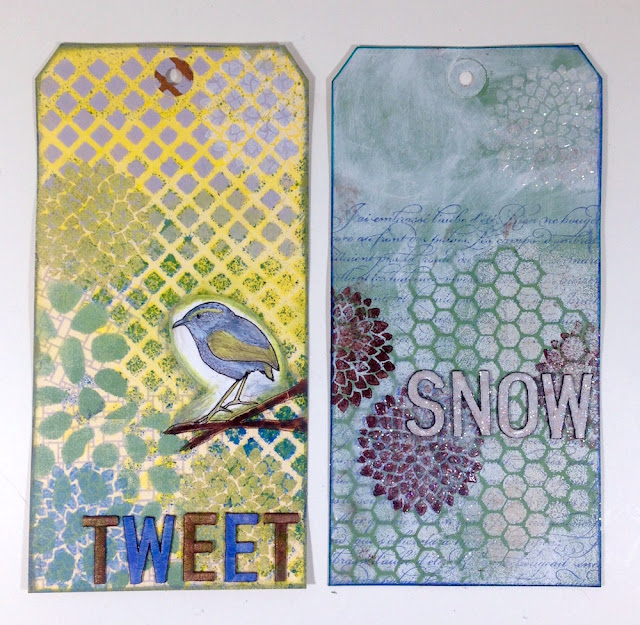 mixed media tags lisa fulmer