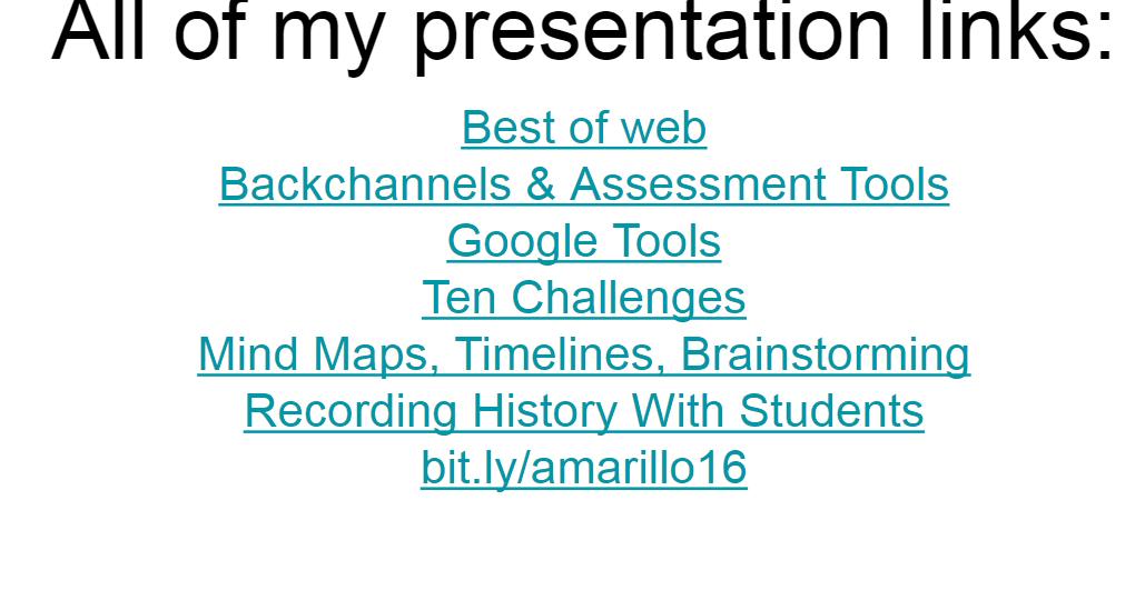 A Week of Presentations - A Slide of Slides