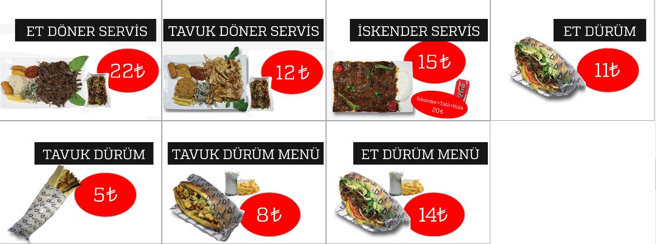 mr döner menü fiyatlar