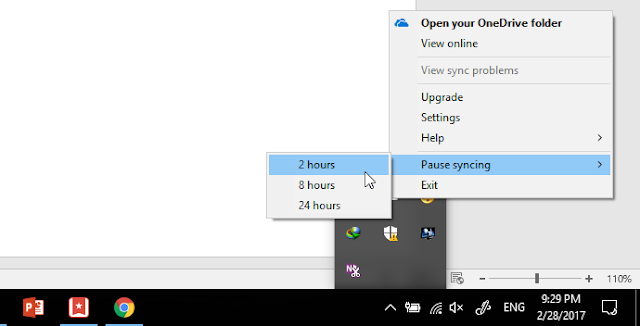 onedrive pause