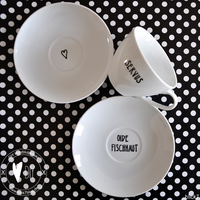 blick7 servus oide fischhaut diy tassen beschriften. Black Bedroom Furniture Sets. Home Design Ideas