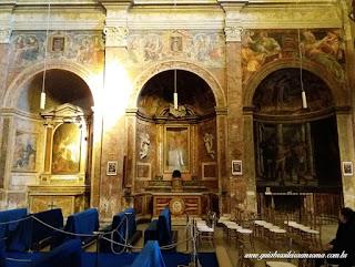 sao pedro montorio nave direita afrescos - São Pedro em Montorio
