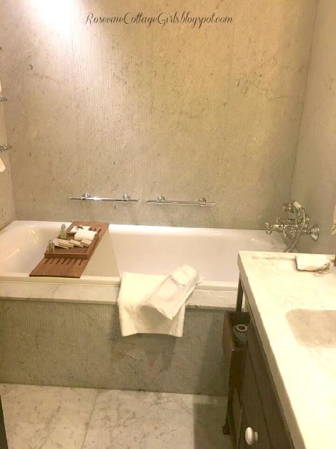Bath tub at the King David Hotel Jerusalem Israel