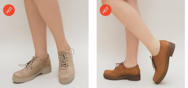 Pantofi casual femei bej, camel din piele eco intoarsa