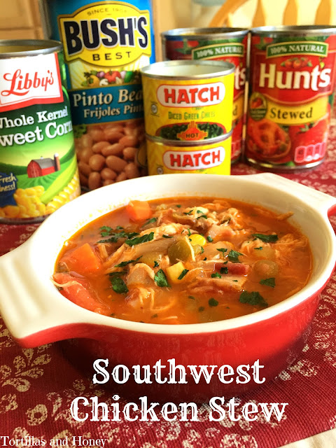 Southwest Chicken Stew | Tortillas and Honey