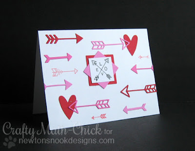 Adventure Awaits Valentine by Crafty Math Chick | Adventure Awaits stamp set and Points & Plumes dies by Newton's Nook Designs