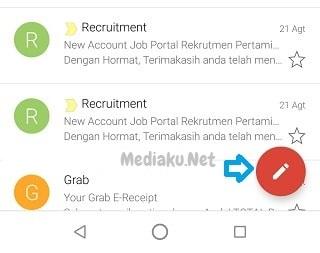 Tulis Pesan Baru Di Gmail Lewat HP