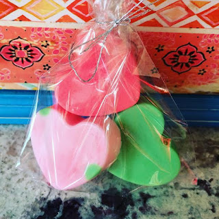 heart valentines soap