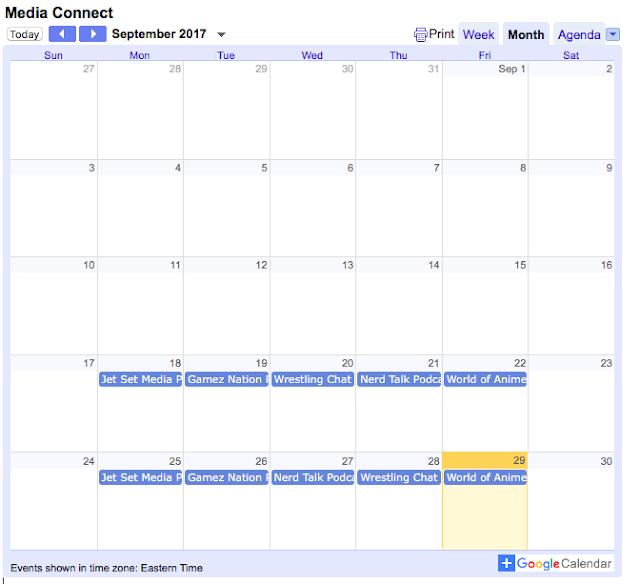 The Media Connect Calendar