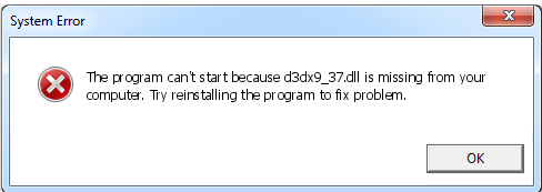 Télécharger D3dx9_37.dll Fichier Gratuit Installer