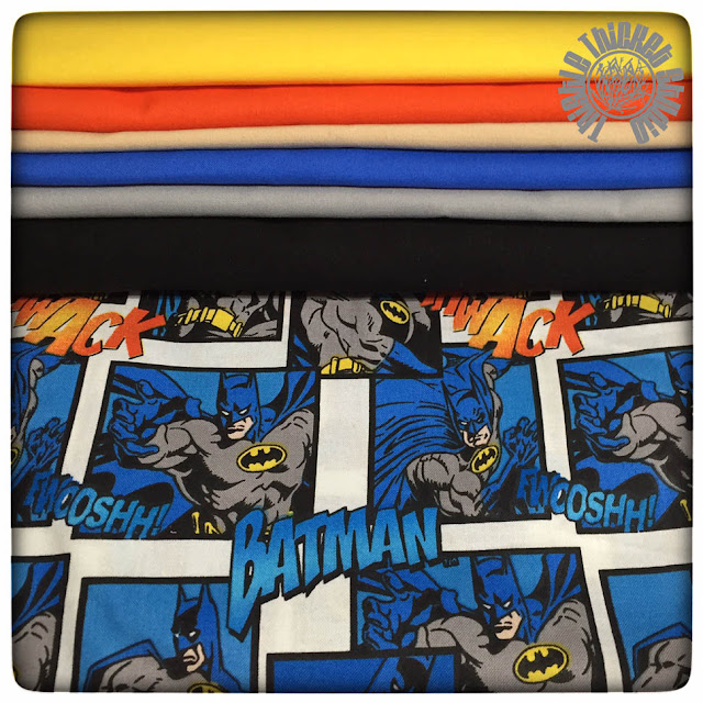 Batman Fabric & Moda Bella Solids At Thistle Thicket Studio. www.thistlethicketstudio.com