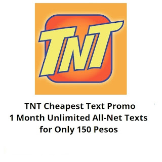 TNT PANALO150, 1 Month Unli All-Net Texts for Only 150 Pesos