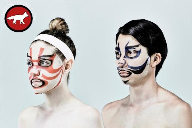 Masque de soin du visage kabuki pour homme et femme fabriqué au Japon