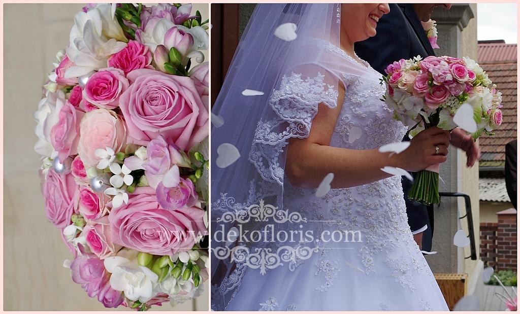Różowy bukiet ślubny - Arkas Prószków